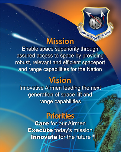 30th Space Wing - Mission, Vision and Priorities Statement